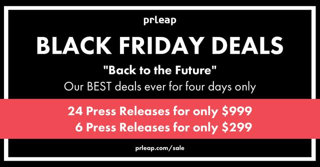 PRLeap Black Friday Press Release Distribution Deals