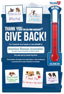 "Havahart® Reaches Goal of Raising $2,500 for American Humane Association through the ""Help Havahart® Give B…"