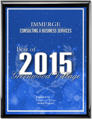 IMMERGE Receives 2015 Best of Greenwood Village Award