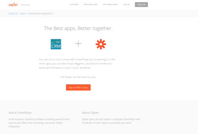 Zapier and GreenRope. Better Together.