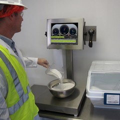 Vantage Formula Control Scale with Ingredient Lot Tracking Software installed at Original Bagel - SG Systems LLC