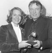 "Richard Burton with his Grammy Award for ""The Little Prince"" recording     photo: rdkRecords"