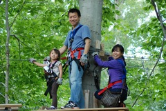 A climb and zip together makes for a great family outing at The Adventure Park.<br />