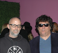 Harvey with record producer-songwriter Moby (photo by Harold Sherrick)