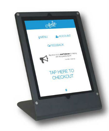 Airlift's iPad-based payment kiosk.