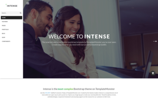 TemplateMonster To Unbox Intense - Simple Bootstrap Template for Everyone