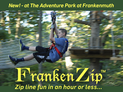 FrankenZip™ is new for 2016 at The Adventure Park at Frankenmuth