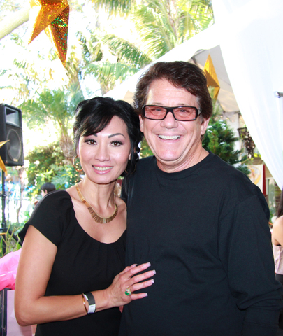 Synora Vievien Pattillo and Anson Williams at Borgnine Event