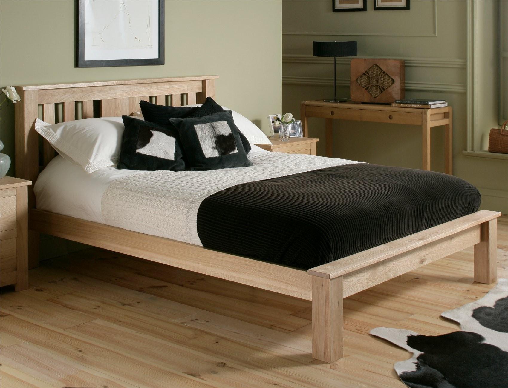 Giường đôi gỗ sồi Platform King Size 1.8 x 2m, xuất khẩu Anh