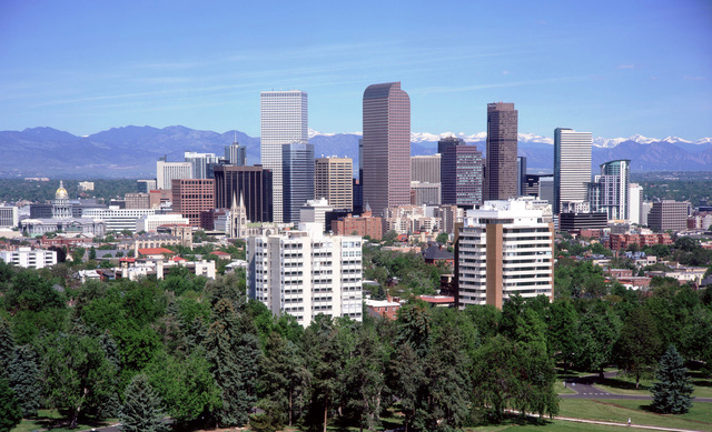 A view of the Denver skyline