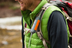 MUV used as an inline water filter with a hydration backpack.
