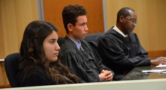 CLIMB Program students going through Mock Trial