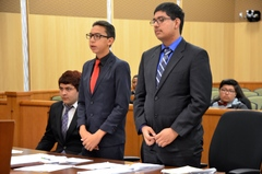 CLIMB Program students participating in Mock Trial