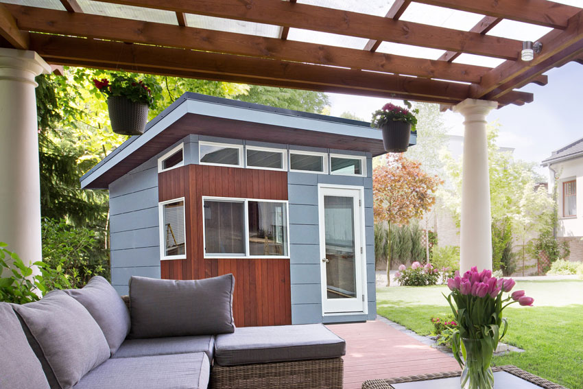 modern sheds and modern home office designs released by sheds unlimited backyard home office pod