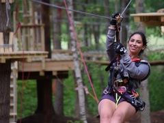 With 15 zip-lines, TreeTop Adventures is Zip-lining Heaven!
