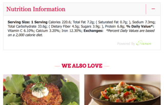 Edamam To Power Nutrition Betty Crocker, Pillsbury, Tablespoon and QueRicaVida Websites