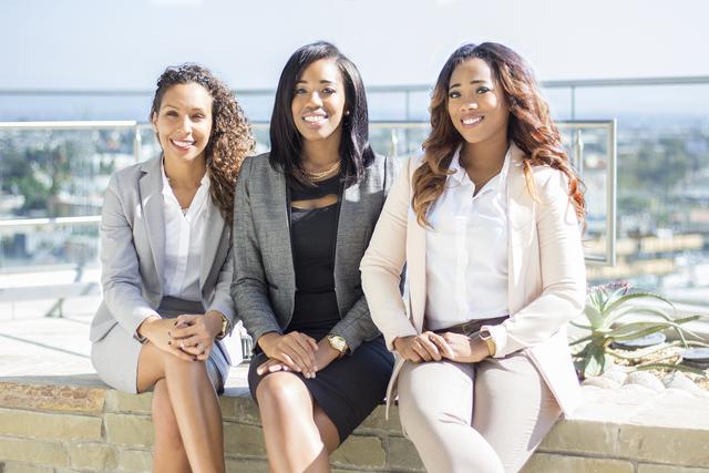 (from left to right) Briana Givens, Liku Madoshi, Monique Larmond