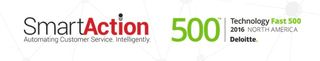 SmartAction Ranked as a Fastest Growing Company in North America on Deloitte's 2016 Technology Fast 500…