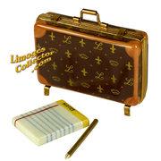 Designer Briefcase, Notepad & Pen Limoges box LimogesCollector.com