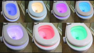 GoldMore New Water Drop Toilet Night Light Motion Sensor Launched on European Market