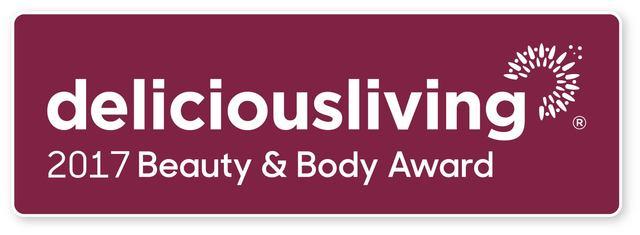 Delicious Living Magazine 2017 Beauty & Body Award Winners