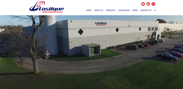 Lastique's new website homepage features an easy-to-use navigation and a video that shows behind-the-scene footage of the company's warehouse and inner workings.