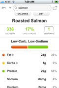 Edamam Recipe App - Nutritional info