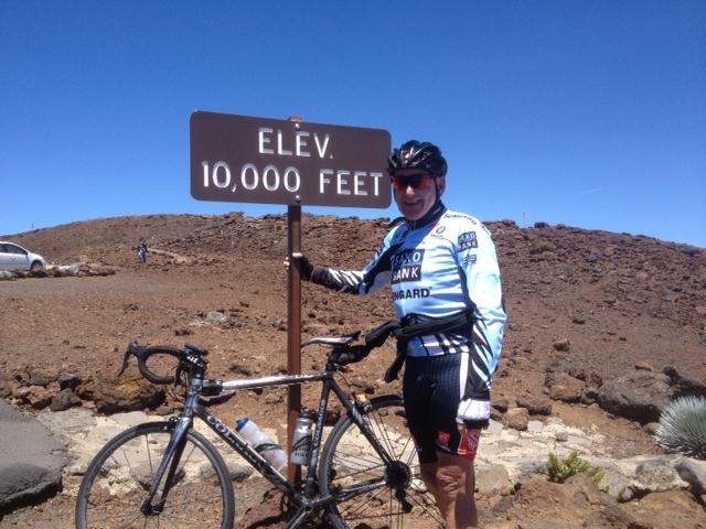 Ian (alias Fred) Hurrell, Director and major shareholder of JAXQuickfit Tyres has cycled up the longest continuous uphill ride in the world.