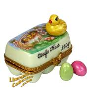 Easter Egg Carton with Chicks Limoges Box | LimogesCollector.com