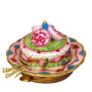 Birthday Cake with Roses & Candle Limoges Box | LimogesCollector.com
