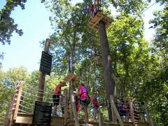 Your adventure begins when you climb up the starting platform at The Adventure Park. (photo: Outdoor Ventures)