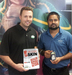 Rob Moser & Inder Singh Holding Ipad and Android Phone With QR Code Skin