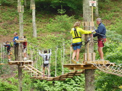 Climbers make their way along one of the aerial trails at The Adventure Park. (Photo: Outdoor Ventures)