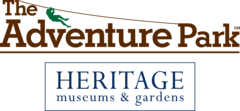 The logo of The Adventure Park at Heritage Museums & Gardens.