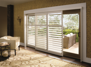Palm Beach™ polysatin shutters with the DuraLux™ finish from Hunter Douglas