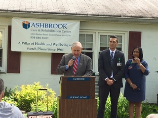 Ashbrook Care & Rehabilitation Center Celebrates National Nursing Home Week with Scotch Plains Mayor