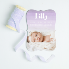 Basic Invite Add Foil To Birth Announcement Product Line