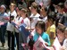 School children sing songs of Old Glory at the 2011 Flag Day Parade ceremonies before historic Fraunces Tavern.