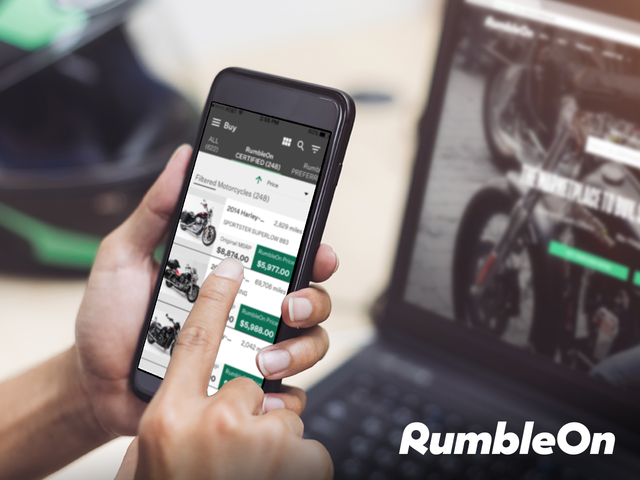 Motorcycle tech company RumbleOn has revamped their branding to reflect their capabilities.