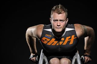 Canadian paralympic wheelchair racer and winner of this year's Boston Marathon, Josh Cassidy