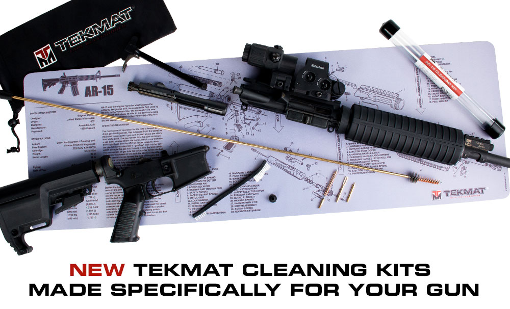 TekMat Unveils New Caliber Specific Gun Cleaning Kits to
