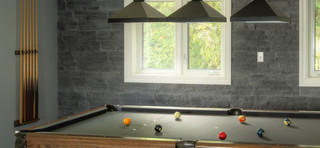 Fusion Stone To Feature Peninsula Ledgestone In Billiards Room