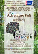 Poster for The Adventure Park at Long Island's Climb Against Cancer event, October 5, 2017