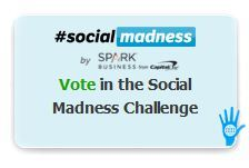 Social Madness is a corporate media challenge that measures the growth of a company&#039;s social presence.