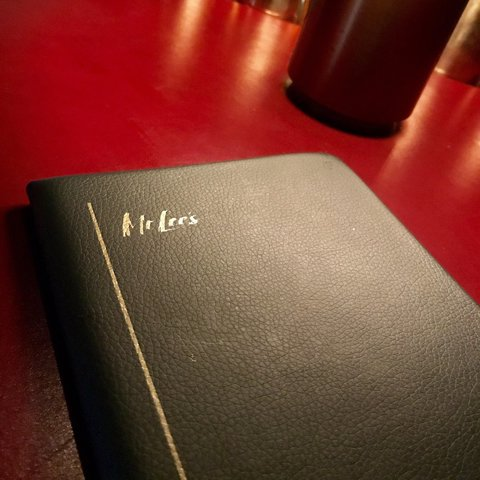 A local patron took this beautiful photo of the menu featured at Mr. Lee's - Louisville, Kentucky's classic cocktail lounge.