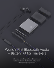 New Kickstarter, POLATAP: Premium bluetooth audio + battery kit for travelers
