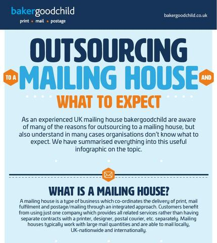 Outsourcing to a mailing house infographic from bakergoodchild
