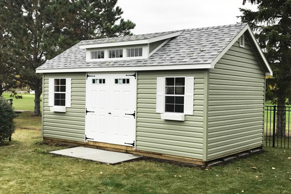 Vinyl Sided Storage Shed in ND