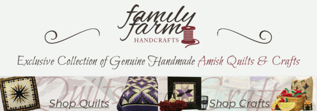 Exclusive Collection of Genuine Handmade Amish Quilts & Crafts.