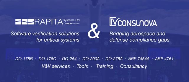 ConsuNova and Rapita DO-178C Solution Partnership
